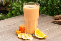 Smoothie de Papaya Banano y Naranja