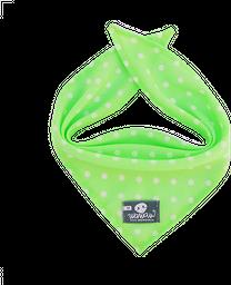 Pañoleta verde neón pepas blancas