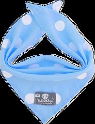 Pañoleta azul pepas blancas