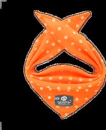 Pañoleta naranja neón pepas blancas