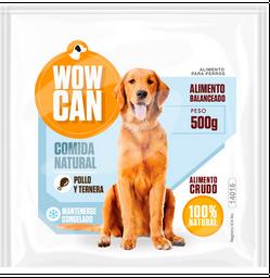 Wowcan alimento crudo – pollo y ternera 500 gr