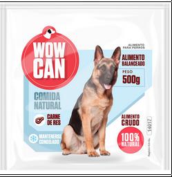 Wowcan alimento crudo - carne de res 500 gr