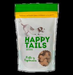 Galletas happy tails pollo & espinacas 180 gr