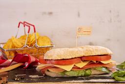 Sándwich de Jamón Serrano + Papas