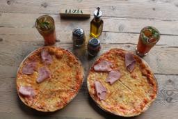 2x1 Pizza Margarita Jamón york+ 2 Limonadas