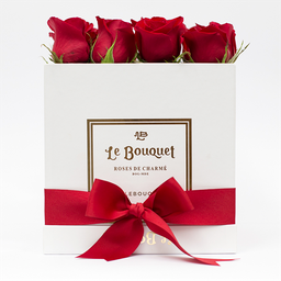 Caja por 16 rosas tradicionales rojas