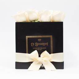 Caja por 16 rosas tradicionales blancas