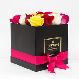Caja por 16 rosas tradicionales surtidas