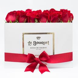 Caja por 36 rosas tradicionales rojas