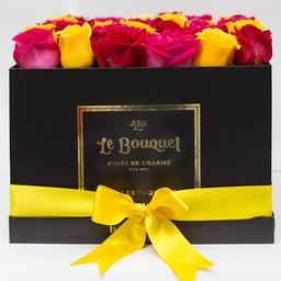 Caja por 36 rosas tradicionales surtidas