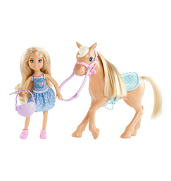 Barbie Chelsea Y Pony