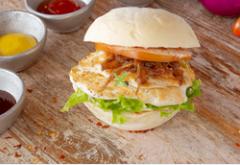 Promo hamburguesa de Pollo+ Bebida Gratis 🍔