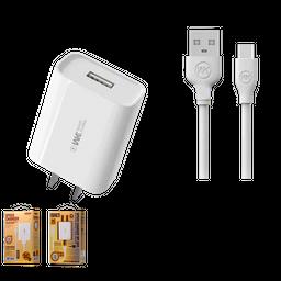 Adaptador 3C y Cable USB 2.1A de 1mt Carga Rápida