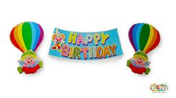 Guirnalda feliz cumpleaños payasos