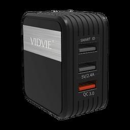 Cabezote 3 en 1  VIDVIE PLM305Q  smart id 2.4A /Qualcom 3.0