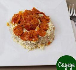 Cayeye + Queso y Suero de Hogao de Chorizo