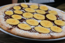 Pizza de Chocolate con Banano