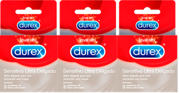 Rappicombo Durex Sensitivo Ultra Delgado x3