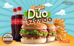 ⭐ Combo Duo Chicharrón (2 Hamburguesas + 2 Papas + 2 Bebidas)