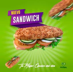 SUPER COMBO Sándwich de Jamón de pavo 🥪 incluye Postre 🍮