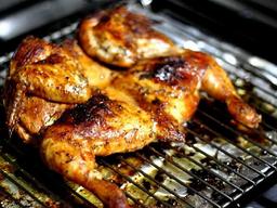 Medio pollo a la plancha