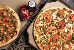 Pizza Grande + La segunda con 50% OFF