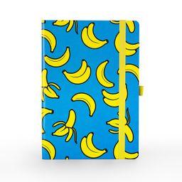 Libreta 190 hojas bananas cian