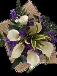Bouquet de Calla con Statice