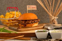 Combo de sándwich de Cerdo + Papas + Bebida
