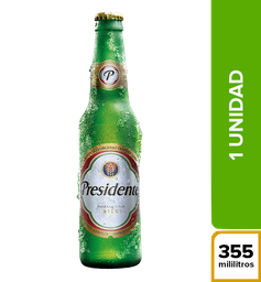 Cerveza Presidente - Botella 355ml x1