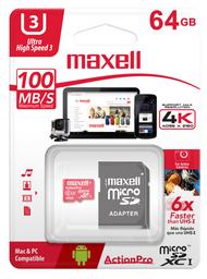 Maxell Memoria Mcsd 64Gb Action Pro Class 10