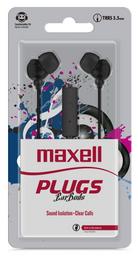 Maxell Audifo Plugz In-225 Black C/Microfono