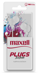 Maxell Audifo Plugz In-225 White C/Microfono