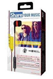Maxell Audifo Eb-Share C/Microfono Red