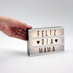 Mini Cartel Luminoso Letras Cinebox Bateria