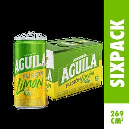 Cerveza Aguila Fusión Limón - Lata 269ml x6