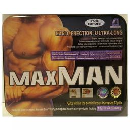 Potencializador En Pastilla Maxman Hombre x 12 Uds.