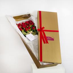 Caja de Rosas y Orquideas