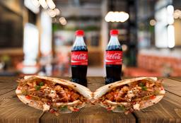 2 Arepas Rellenas + 2 Coca Cola