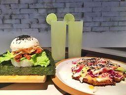 Super Combo - Sushiburger + Sushi pizza + 2 bebidas