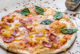 Pizza Mediana Margarita y Hawaiana