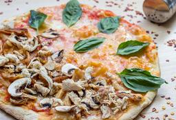 Pizza Mediana Margarita y Pollo champiñones
