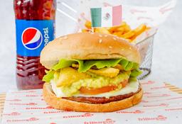 Hamburguesa Mexicana en Combo