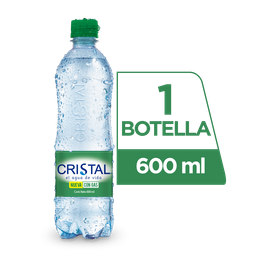 Agua Cristal con Gas 600 ml.
