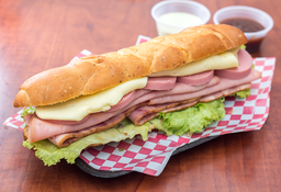 Sándwich Arepa Italiano