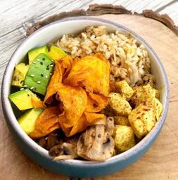 Bowl Pollo al Curry y Champiñones
