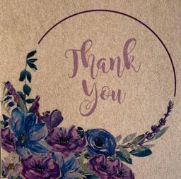 "Tarjeta ""Thank You"""
