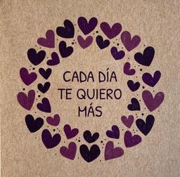 """Tarjeta """"Cada Día Te Quiero Más"""""""