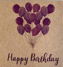 "Tarjeta ""Happy Birthday"""