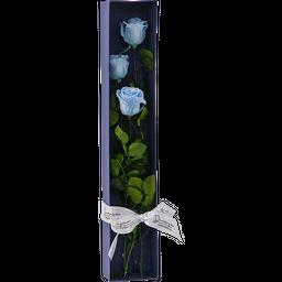 Caja Rosas x 3 Azul Claro